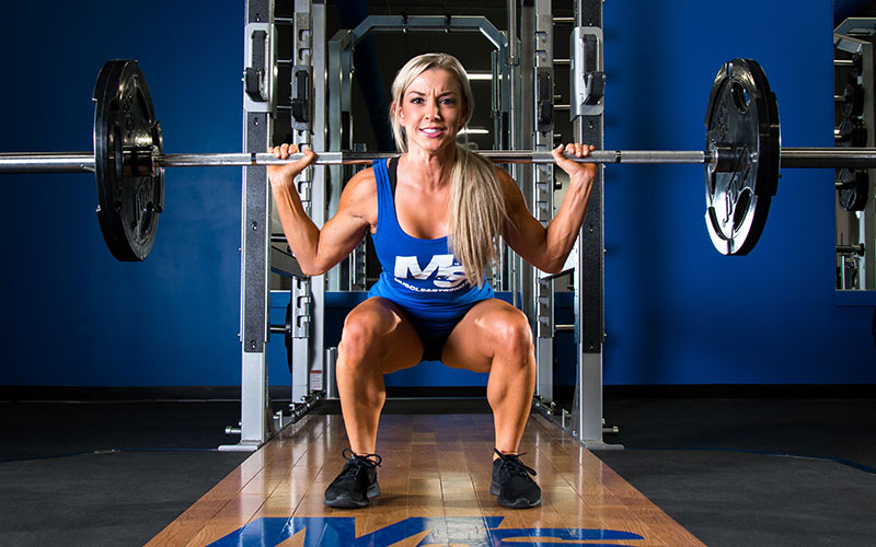 Athlete Focusing on Squat Strength