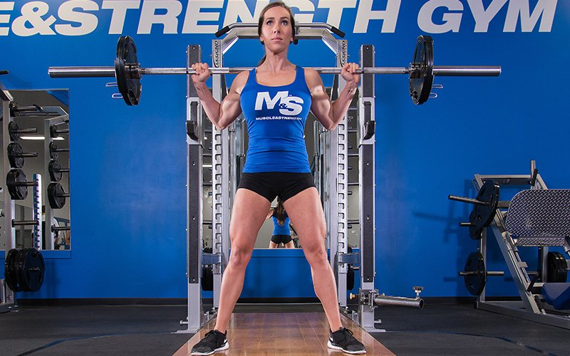 M&S Female Athlete Performing Squats