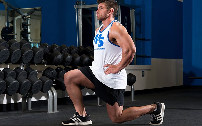 Man Training the LPHC Performing Lunges