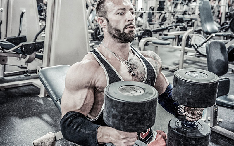 Kris Gethin Performing Strength Training