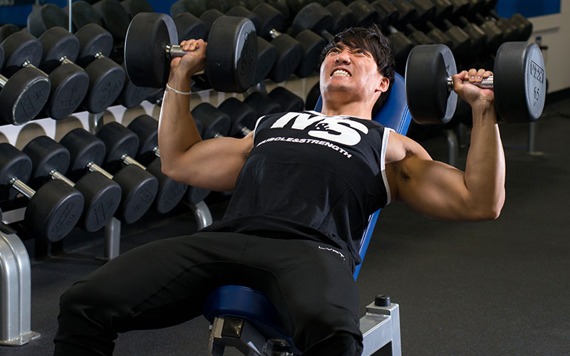 Training to failure on incline dumbbell bench press