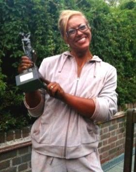 Fiona Mackenzie with trophy.