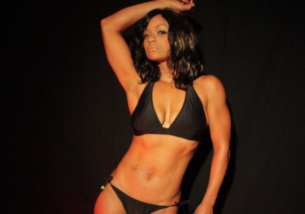 Rashidat Owe fitness model.