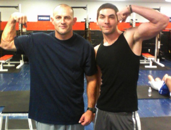 Stephen Ross Roberts with his workout partner.