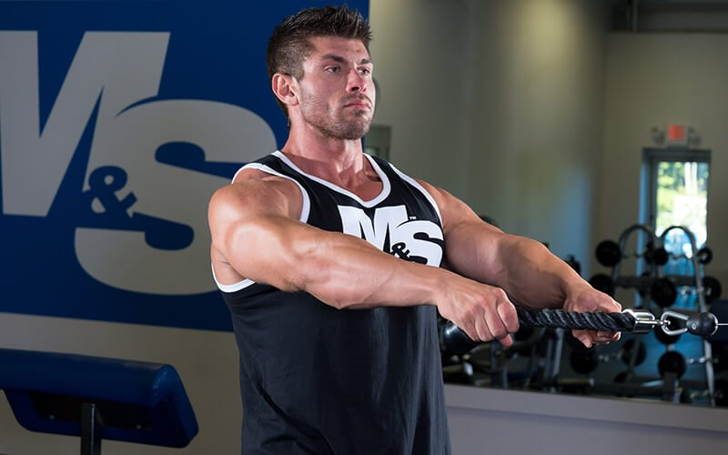 M&S Athlete Working his Trap Muscles