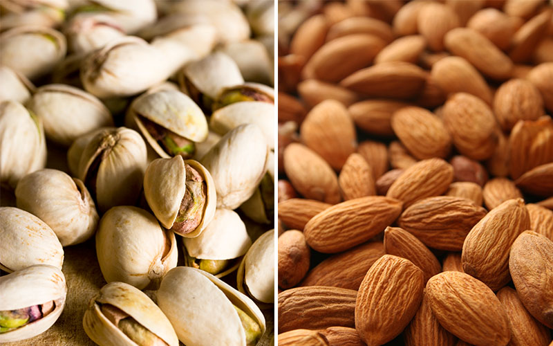 Almonds and Pistachios