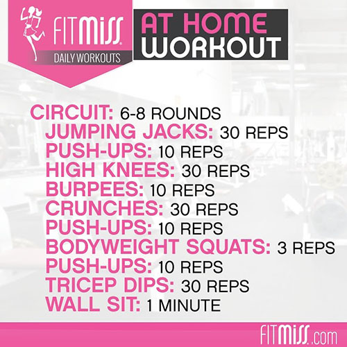 Women S At Home Workout Circuit