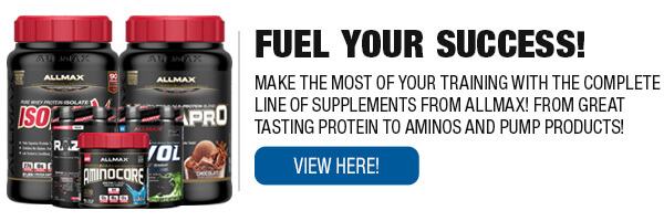 Complete Line of Allmax Nutrition Supplements