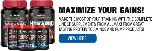 Complete Line of ALLMAX Supplements