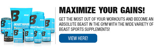 Complete Line of Beast Sports Nutrition Supplements
