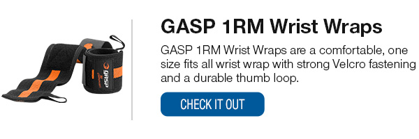 GASP Wrist Wraps Shop Now!