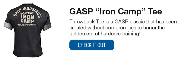 GASP Iron Camp Tee Shop Now!
