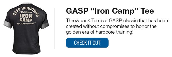 GASP Iron Camp Throwback Tee