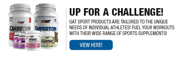 Complete Line of GAT Sport Supplements