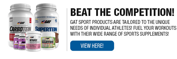 Complete Line of GAT Sports Supplements