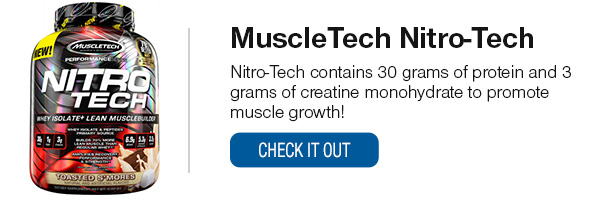 MuscleTech NitroTech Shop Now!