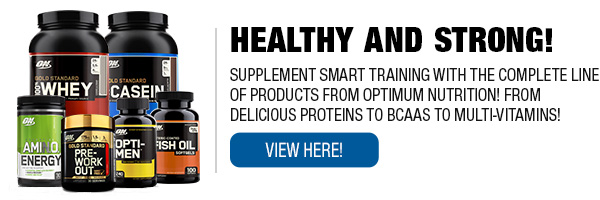 Full Line of Optimum Nutrition Products