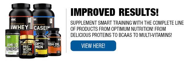 Full Line of Optimum Nutrition Supplements
