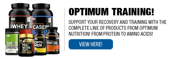 Complete Line of Optimum Nutrition Supplements