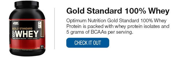 Optimum Nutrtion Gold Standard 100% Whey Shop Now
