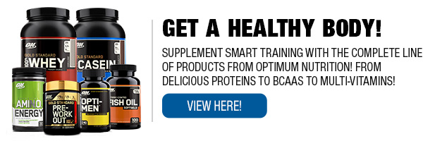 Complete Line of Optimum Nutrition Supplements!