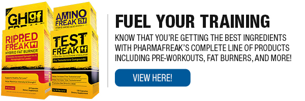 Complete Line of PharmaFreak Supplements