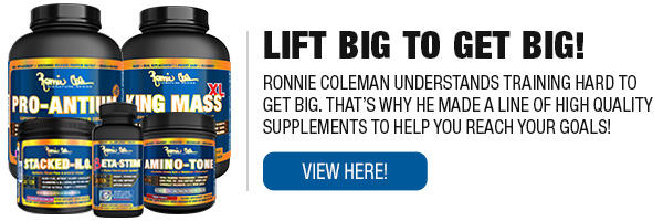 Complete Line of Ronnie Coleman Signature Series Workouts