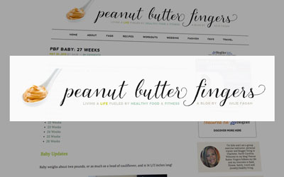 health blog Peanut Butter Fingers