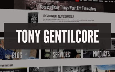 bodybuilding blog Tony Gentilcore