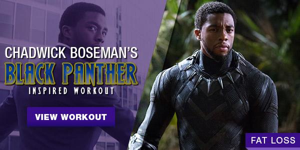 Chadwick Boseman Black Panther Workout