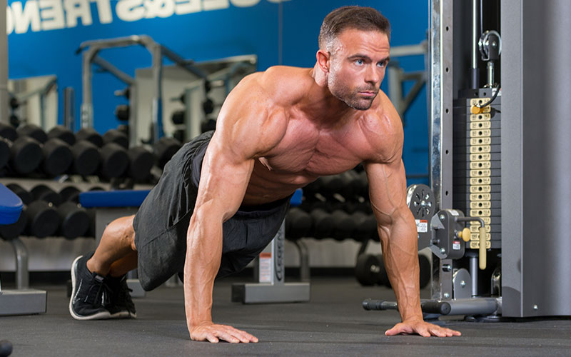Athlete Performing a Push Up