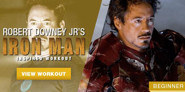 Robert Downey Jr Iron Man Workout