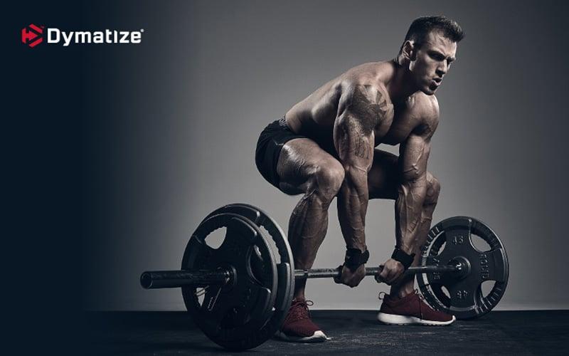 Dymatize athlete deadlifting