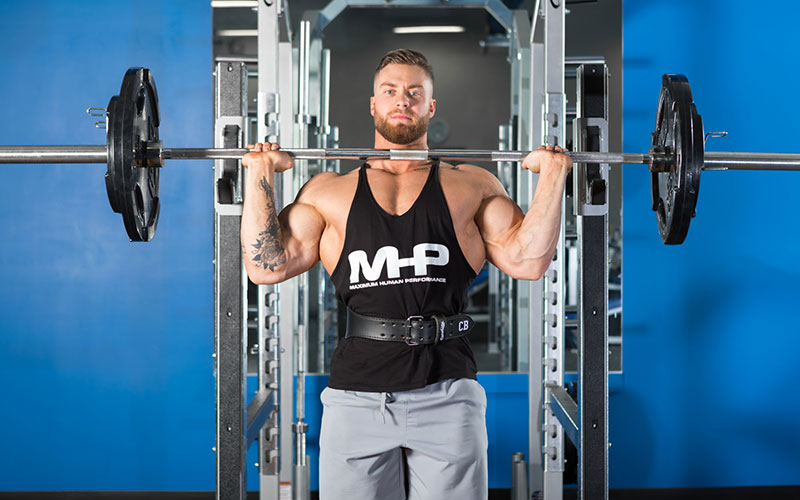 Chris Bumstead Staying Strong with Overhead Press