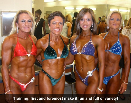 training: First and foremost make it fun and full of variety!