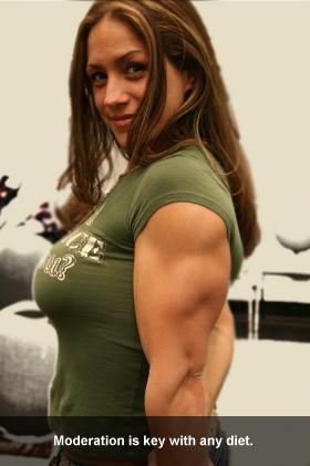 Christy Resendes Flexes Her Guns