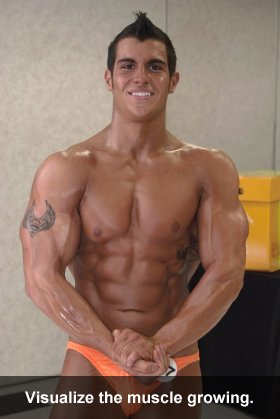 Visualize the muscle growing.