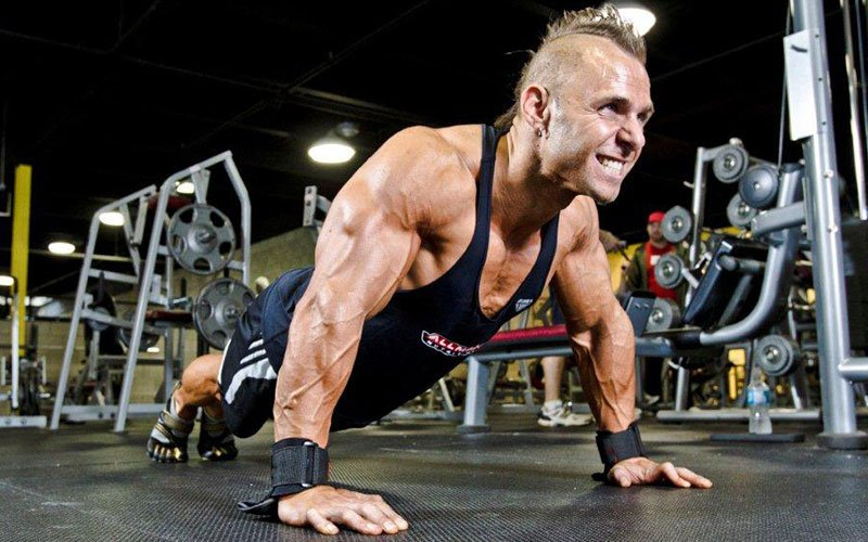 ALLMAX athlete Performing a Push Up