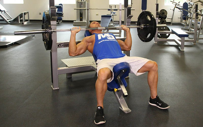 Incline Bench Press Video Exercise Guide Tips