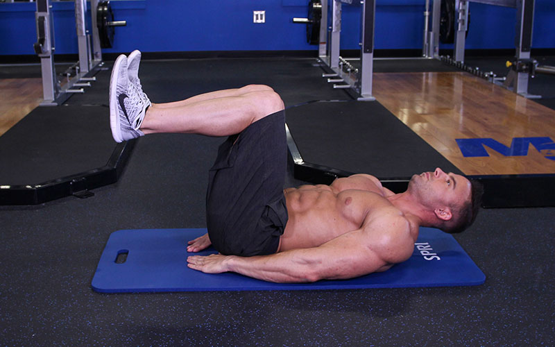 Lying Floor Knee Tuck: Video Exercise