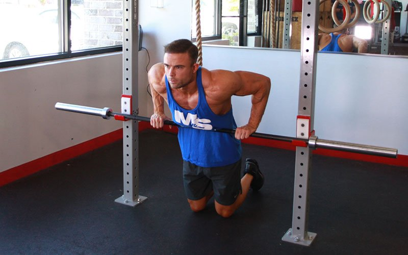 Self Assisted Straight Bar Dip Video Exercise Guide Amp Tips