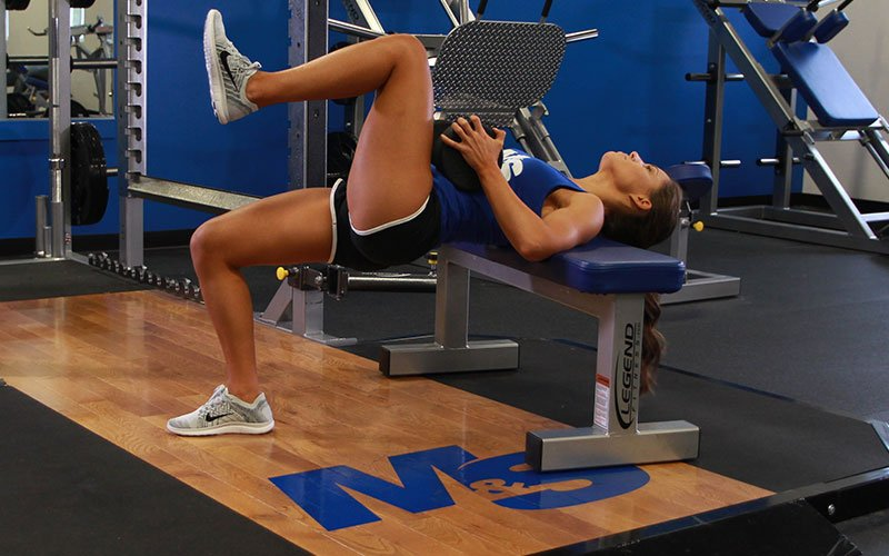 Awesome Single Leg Hip Thrust With Dumbbell Video Exercise Guide Tips Machost Co Dining Chair Design Ideas Machostcouk