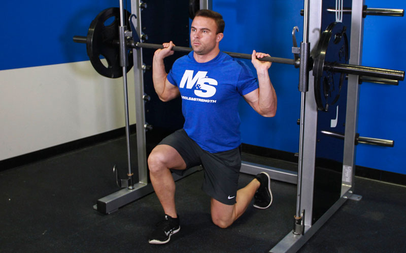 smith machine lunge  video exercise guide  u0026 tips