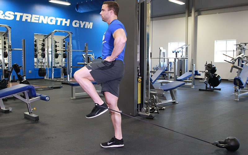 Standing Hip Flexion W Bands Video Exercise Guide Amp Tips