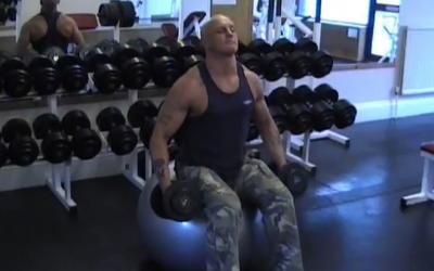 Exercise Ball Lateral Raise
