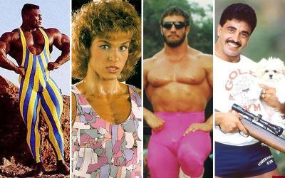 Halloween Terror: 47 Bodybuilding Fashion Images From The 1980s