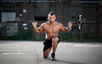 100 Yard Barbell Walking Lunges Challenge