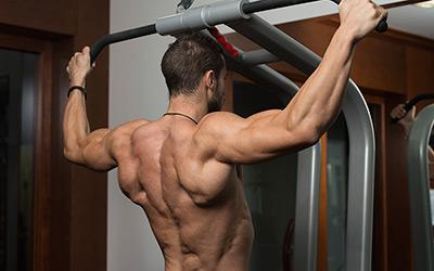 Man Doing Pull Up Back Muscle
