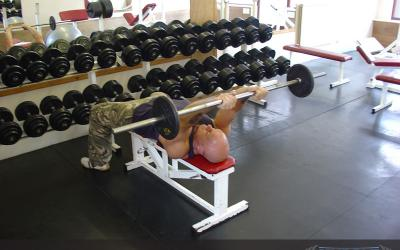 Back Of The Head Lying Tricep Extension