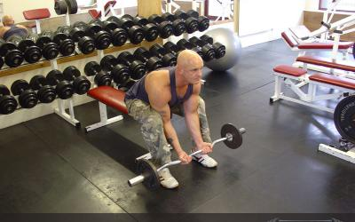 Barbell Concentration Curl